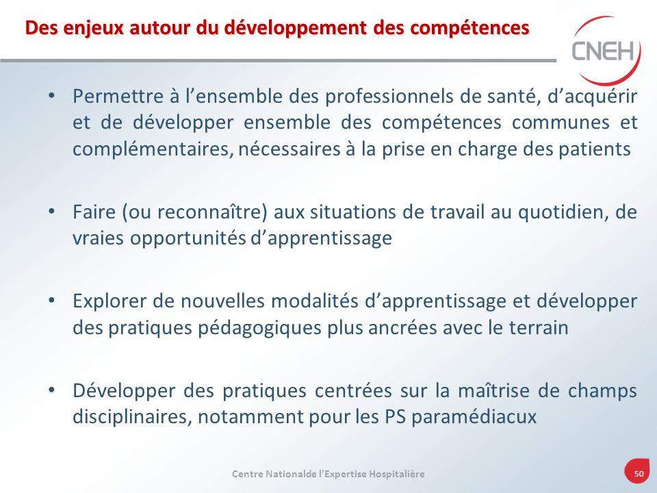 Des enjeux autour du développement des compétences