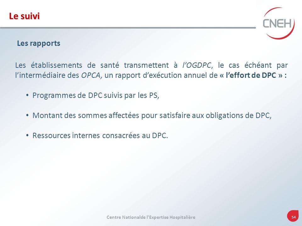 Le suivi Les rapports.