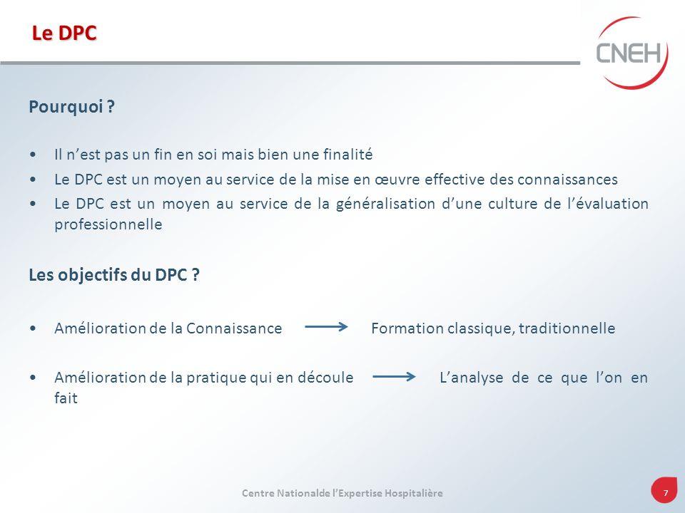 Le DPC Pourquoi Les objectifs du DPC