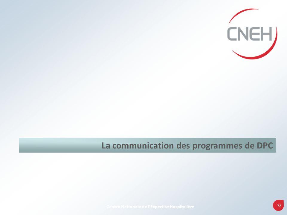 La communication des programmes de DPC