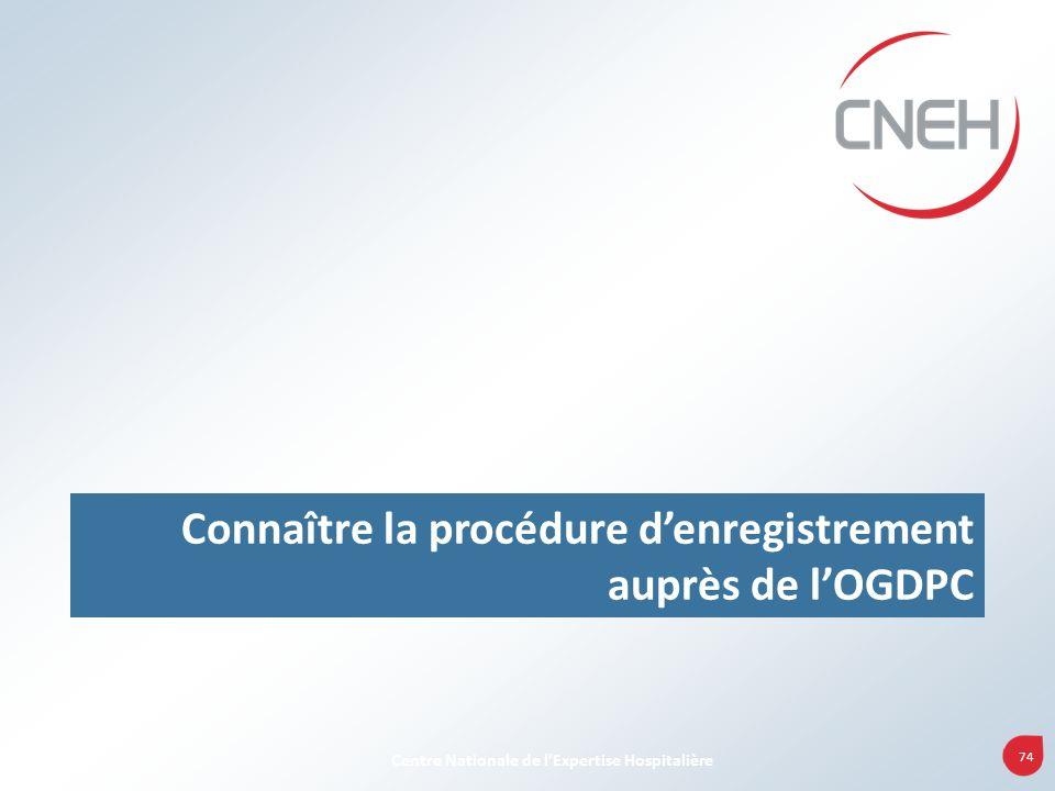 Connaître la procédure d'enregistrement auprès de l'OGDPC