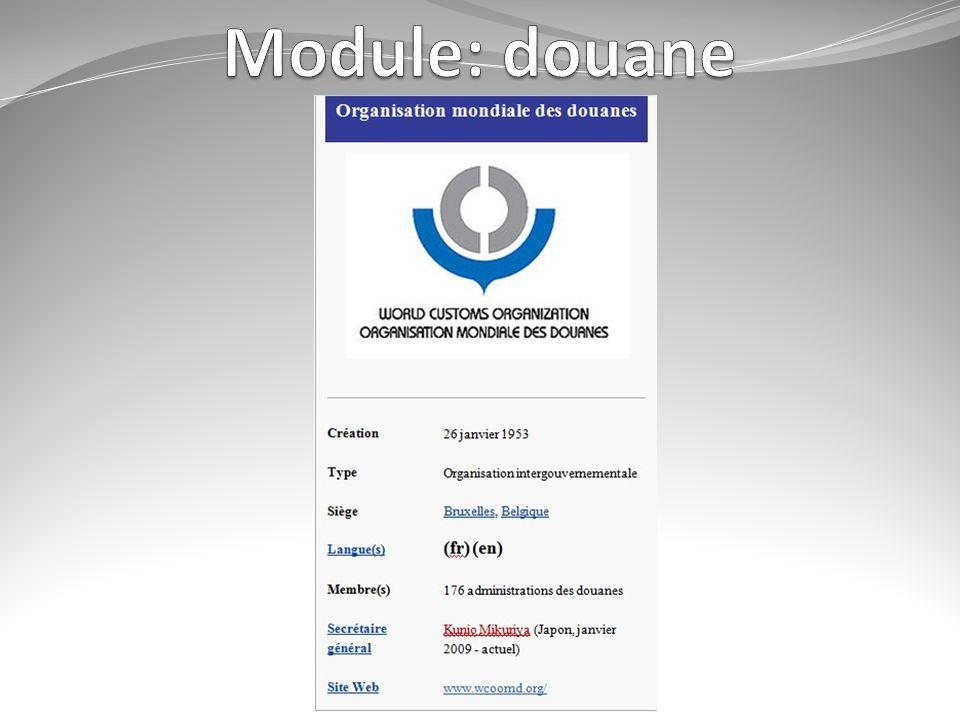 Module: douane