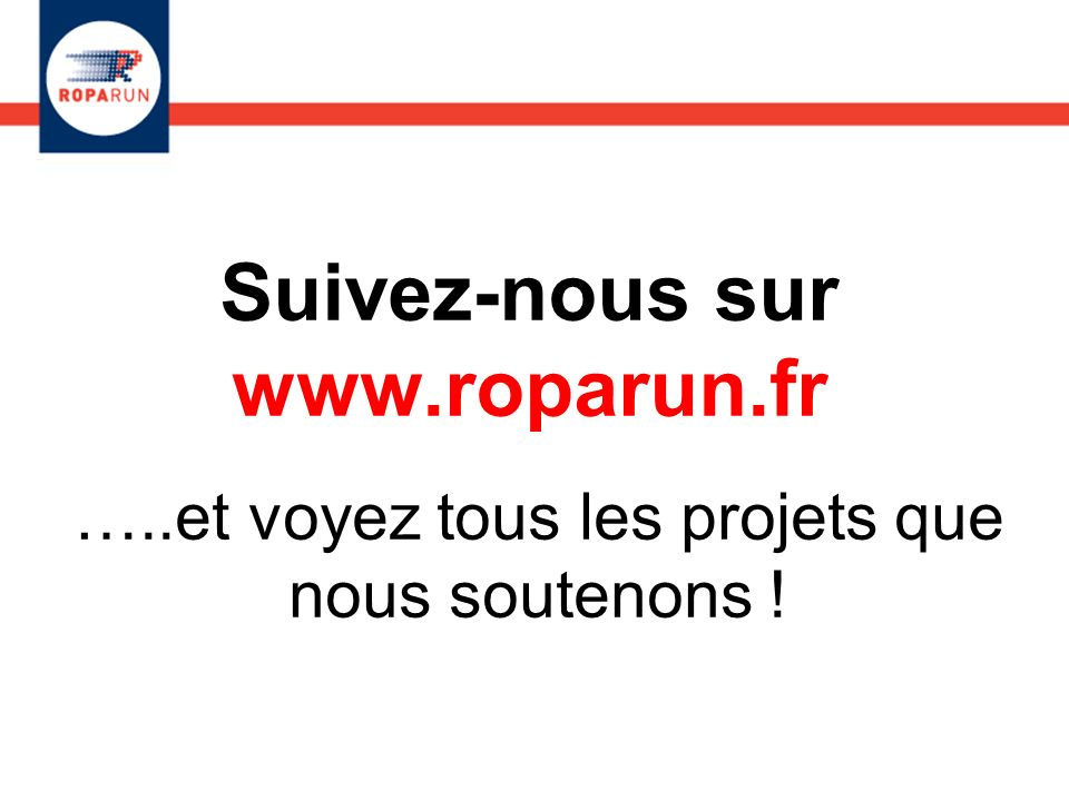 Suivez-nous sur www.roparun.fr
