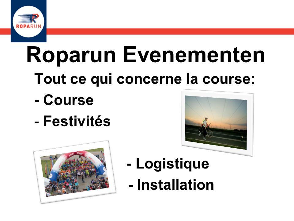 Roparun Evenementen Tout ce qui concerne la course: - Course
