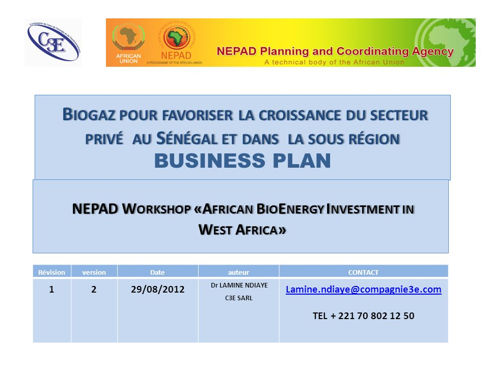 NEPAD Workshop «African BioEnergy Investment in