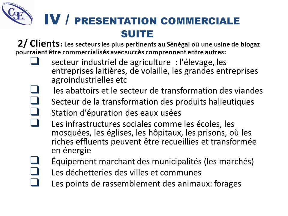 IV / PRESENTATION COMMERCIALE SUITE