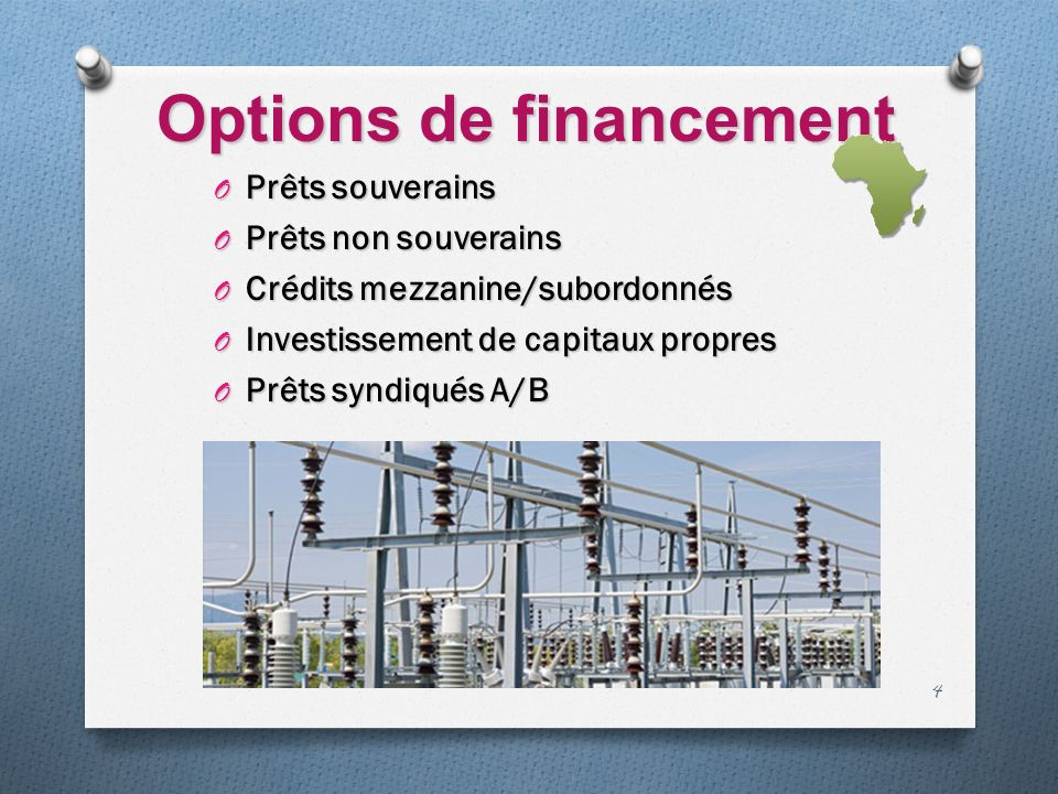 Options de financement
