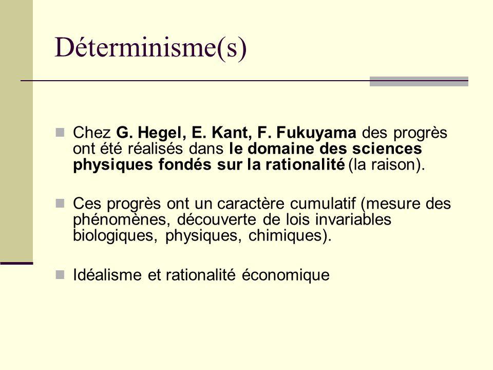 Déterminisme(s)