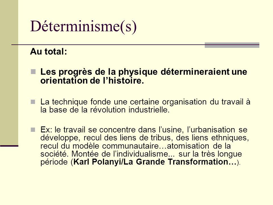 Déterminisme(s) Au total: