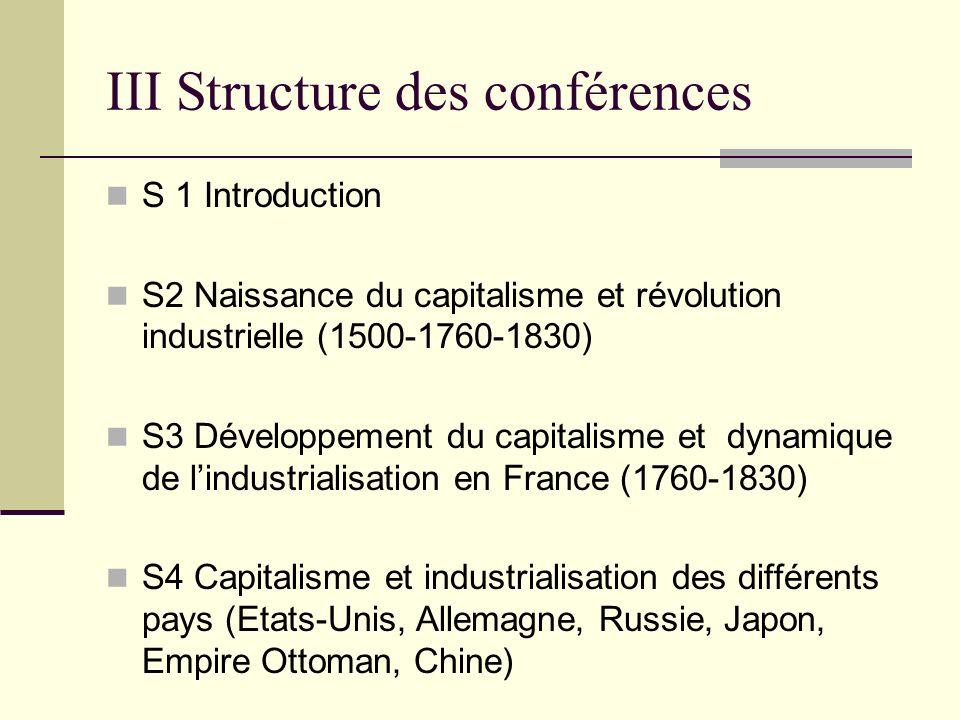 III Structure des conférences