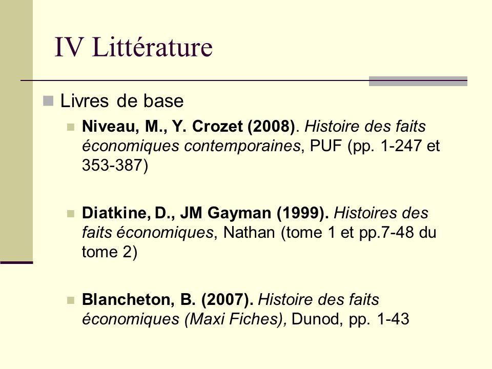 IV Littérature Livres de base
