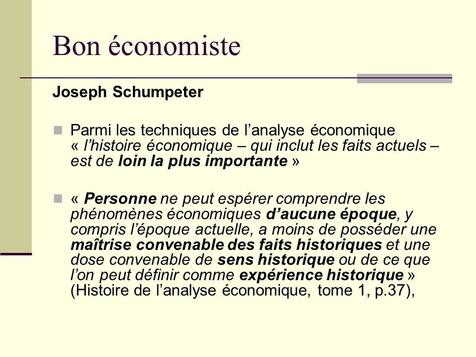 Bon économiste Joseph Schumpeter