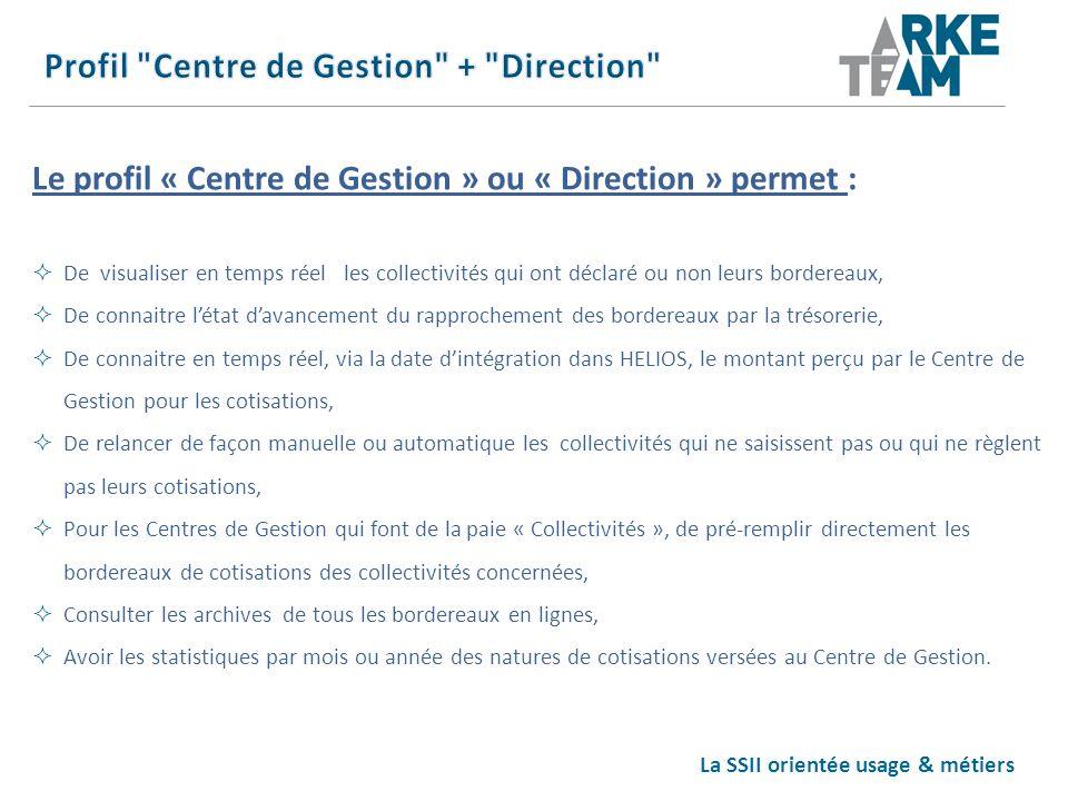Profil Centre de Gestion + Direction