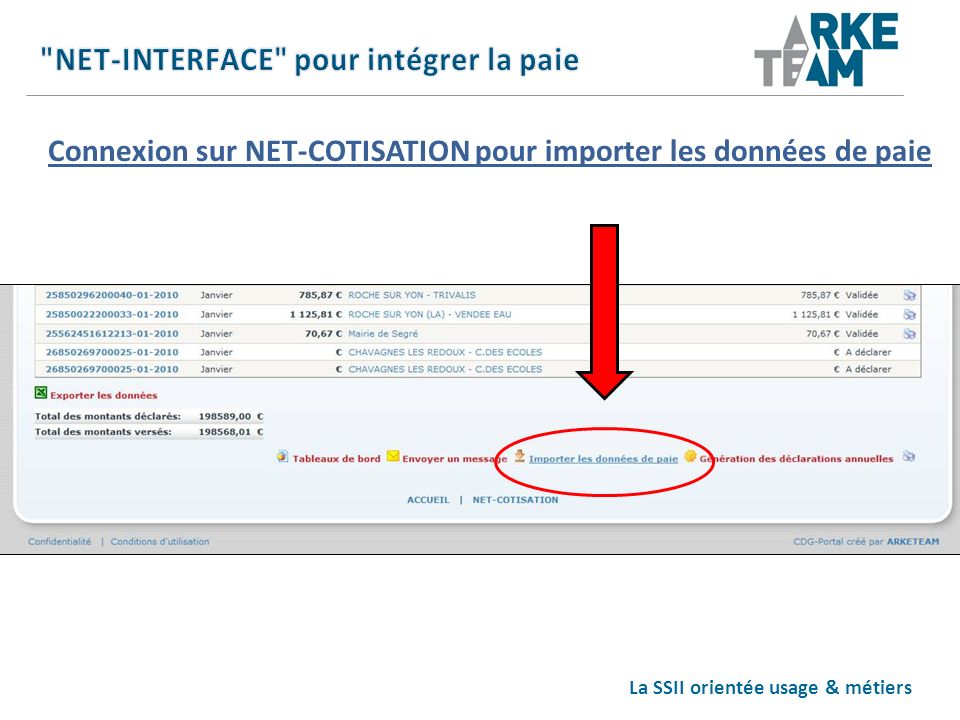 NET-INTERFACE pour intégrer la paie