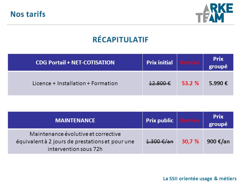 CDG Portail + NET-COTISATION La SSII orientée usage & métiers
