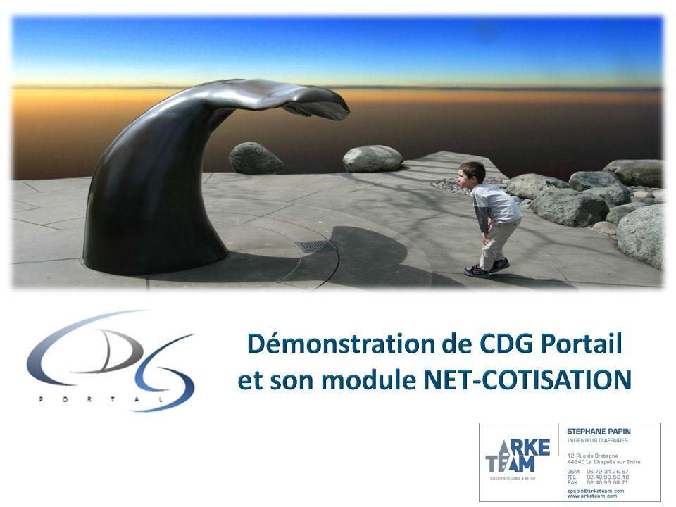 Démonstration de CDG Portail et son module NET-COTISATION