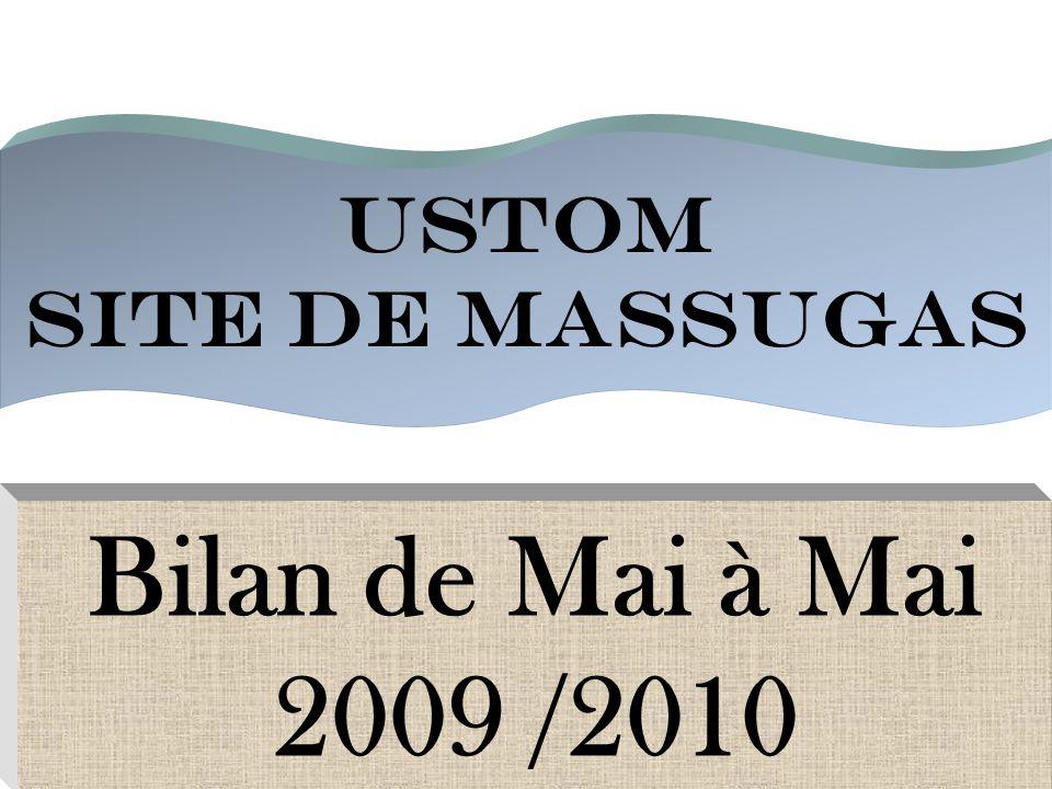 USTOM SITE DE MASSUGAS Bilan de Mai à Mai 2009 /2010