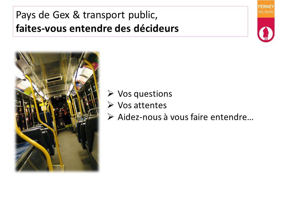 Pays de Gex & transport public, faites-vous entendre des décideurs