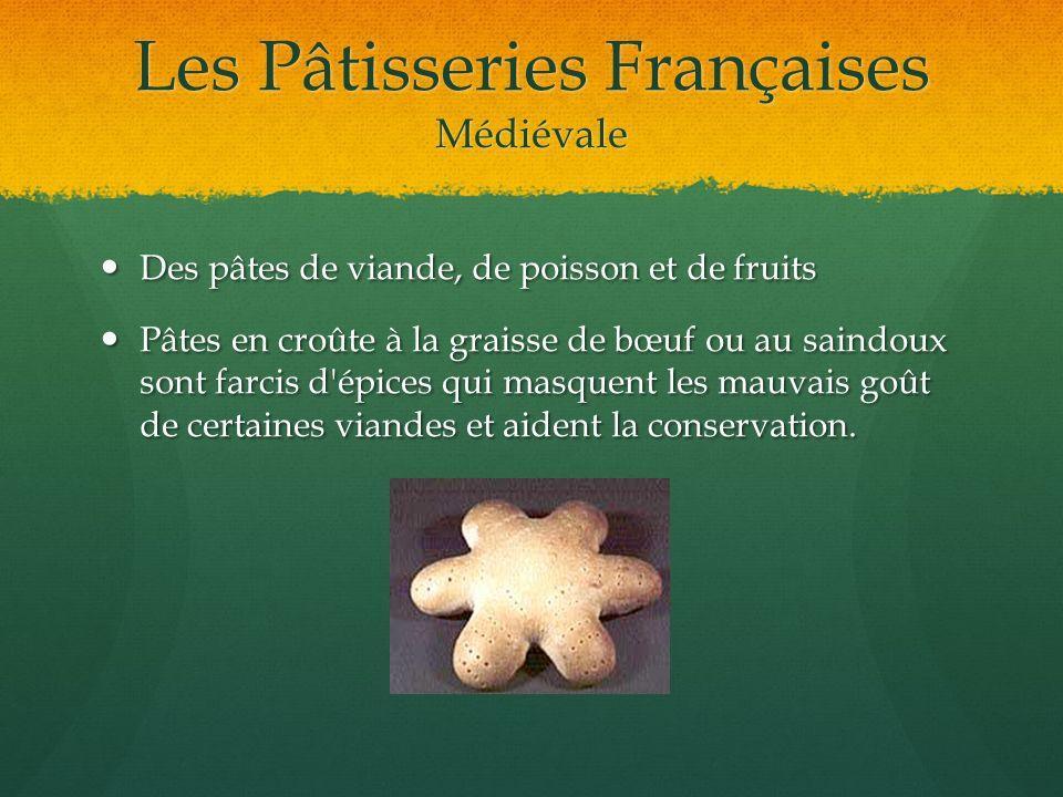 Les Pâtisseries Françaises Médiévale