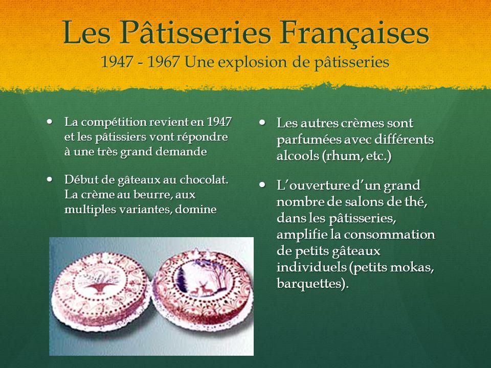 Les Pâtisseries Françaises 1947 - 1967 Une explosion de pâtisseries