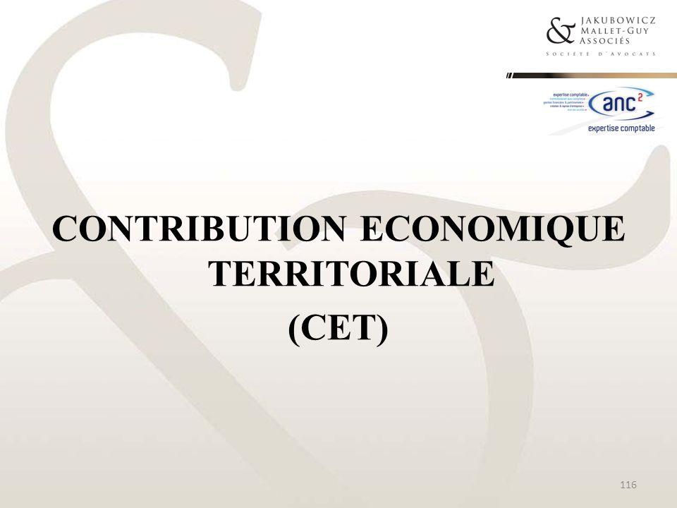 CONTRIBUTION ECONOMIQUE TERRITORIALE (CET)