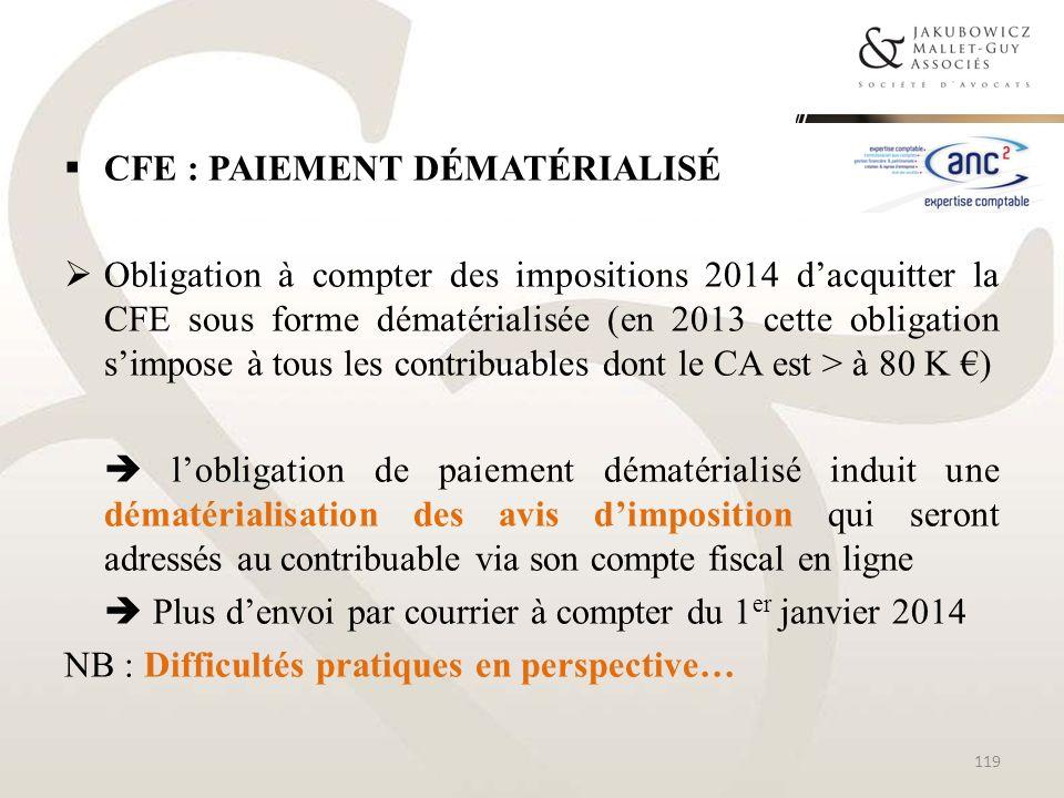 CFE : Paiement dématérialisé