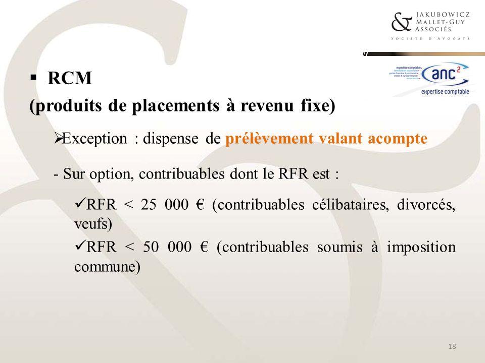 (produits de placements à revenu fixe)