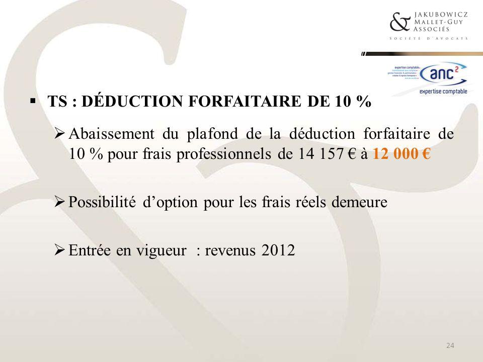 TS : Déduction forfaitaire de 10 %