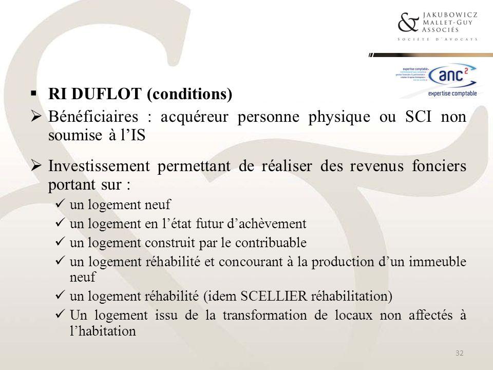 RI DUFLOT (conditions)