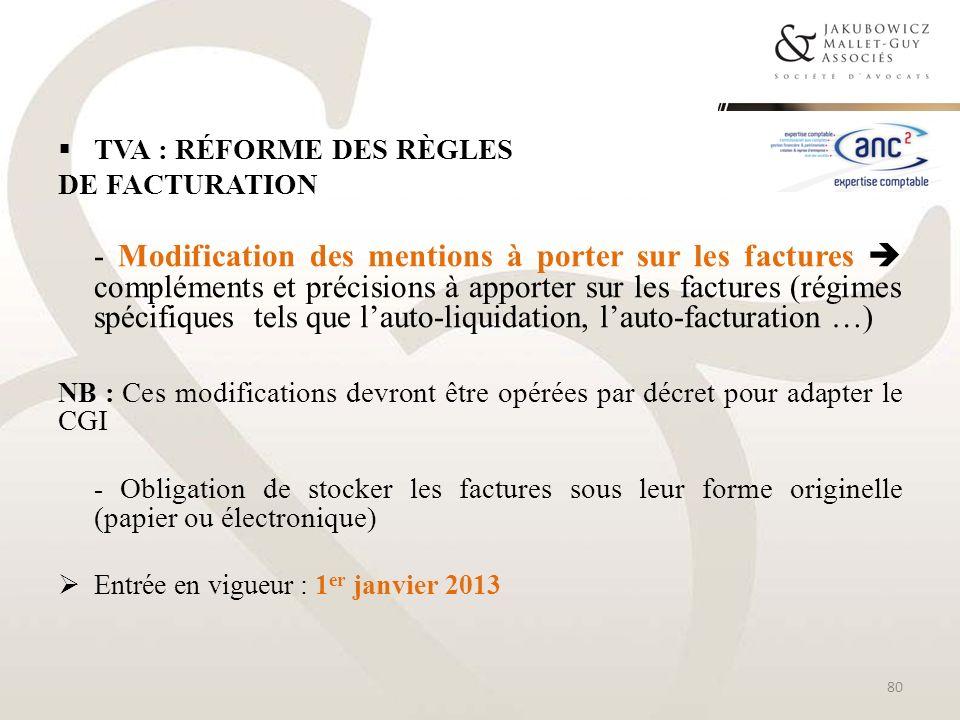 TVA : réforme des règles