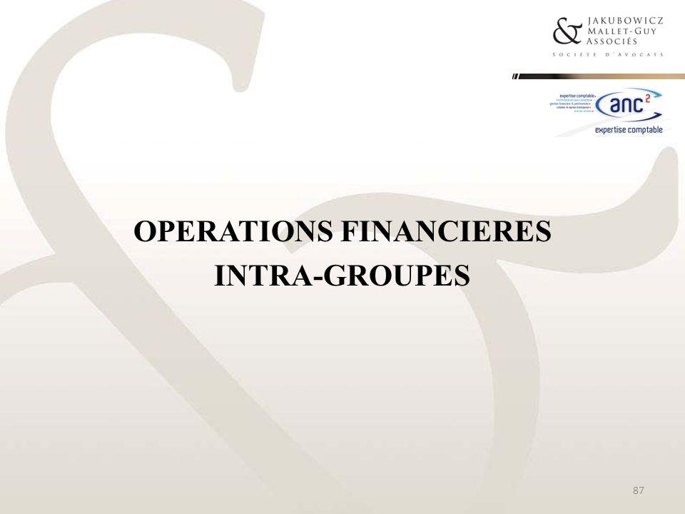 OPERATIONS FINANCIERES