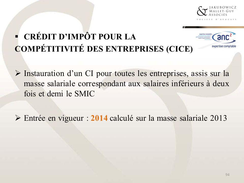 Crédit d'impôt pour la compétitivité des entreprises (CICE)