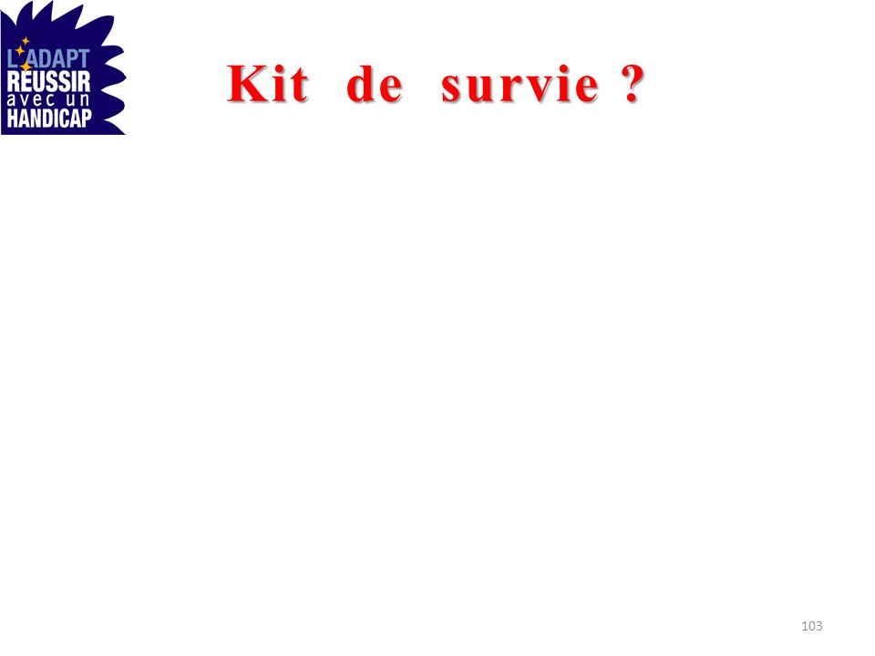 Kit de survie