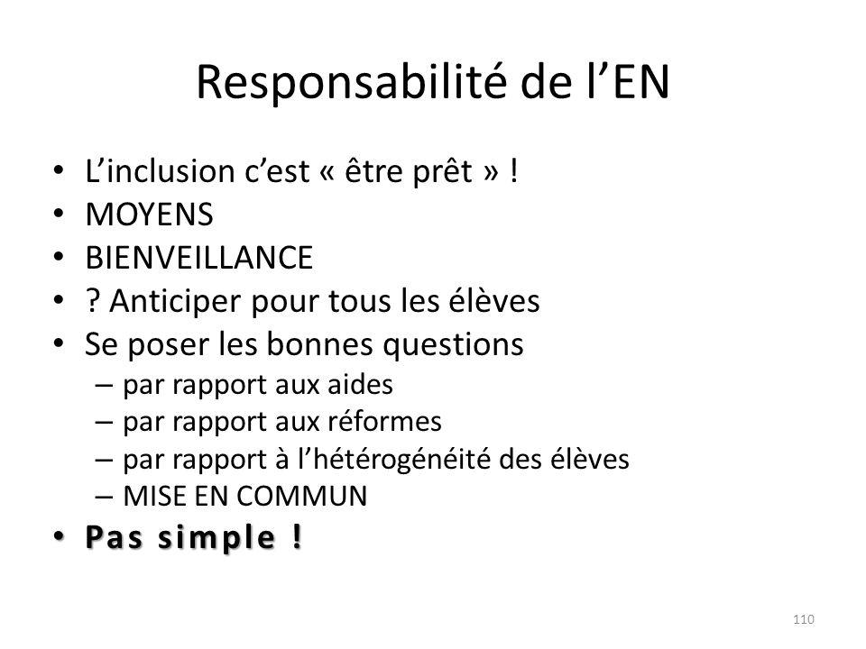 Responsabilité de l'EN
