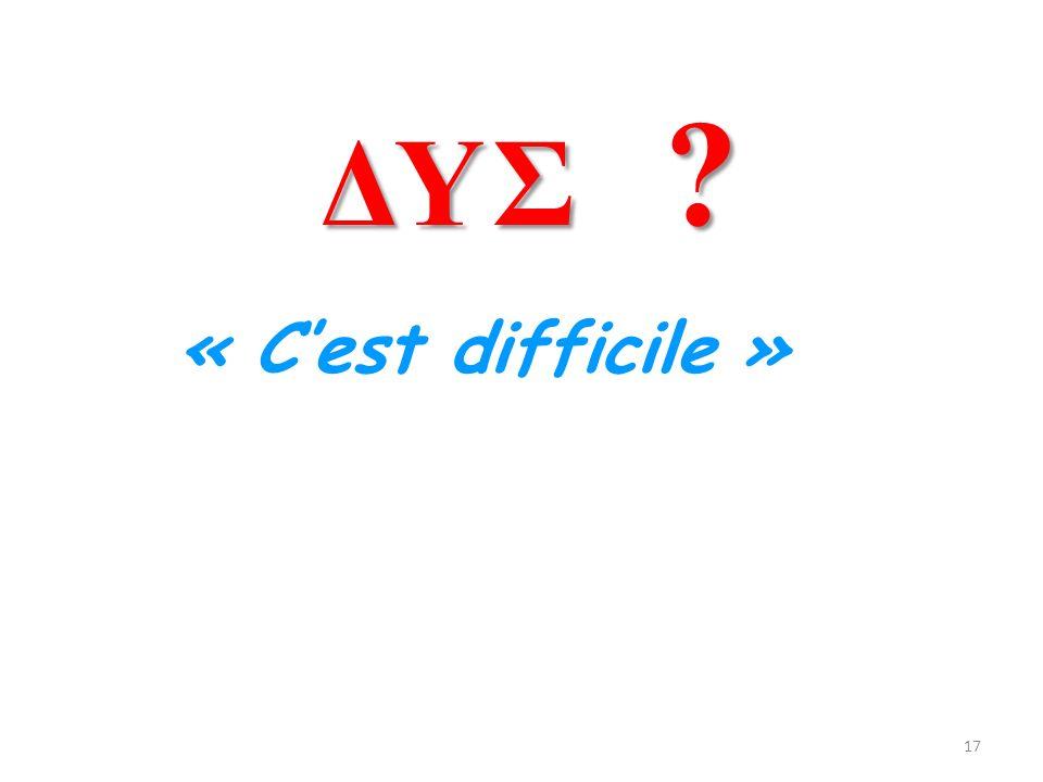 ΔΥΣ « C'est difficile »