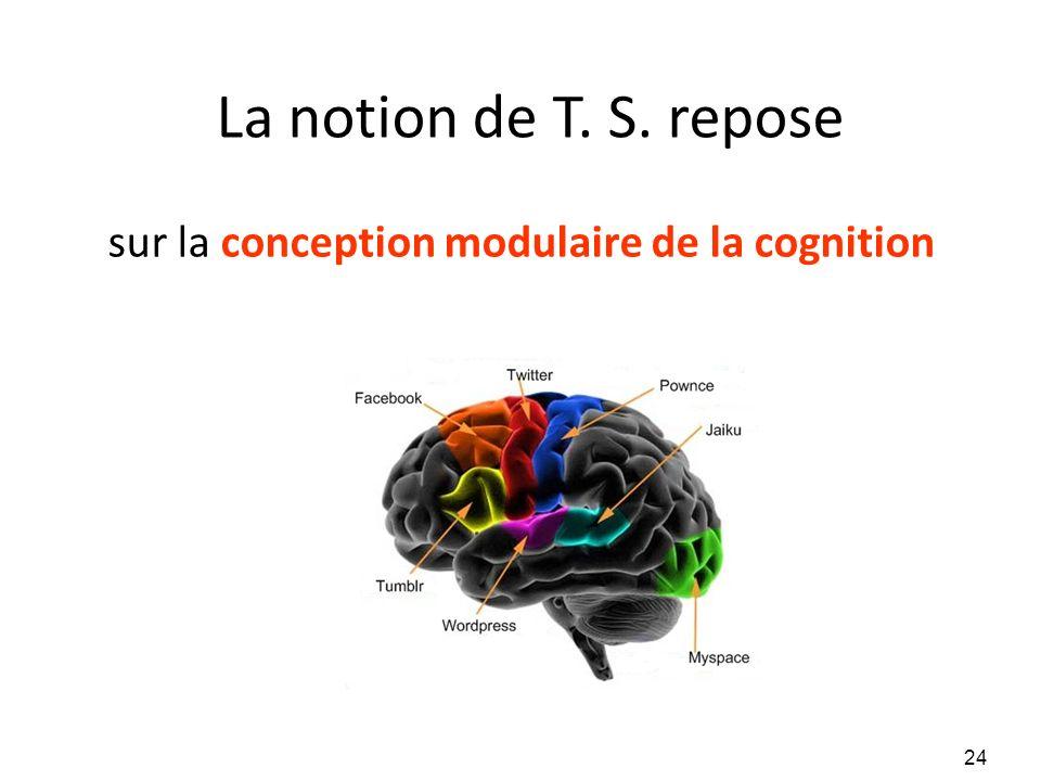 sur la conception modulaire de la cognition