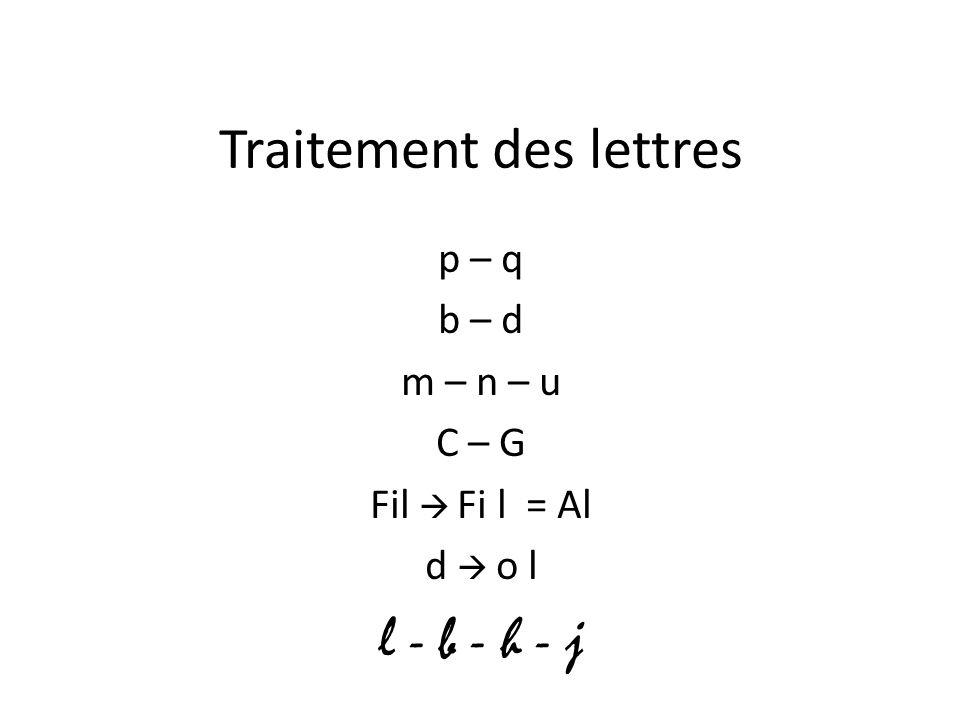 Traitement des lettres