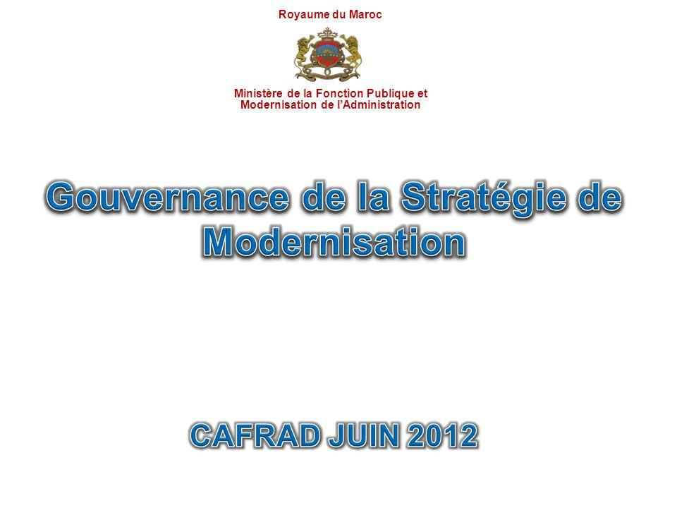 Gouvernance de la Stratégie de Modernisation