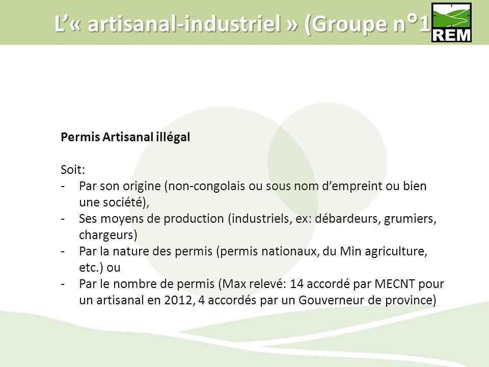 L'« artisanal-industriel » (Groupe n°1)