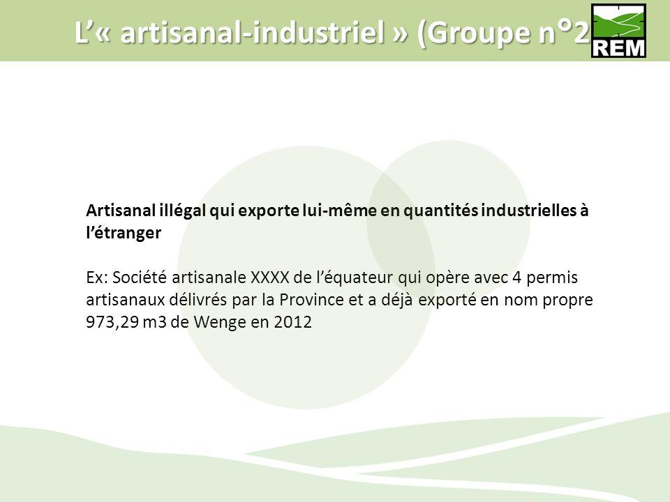 L'« artisanal-industriel » (Groupe n°2)