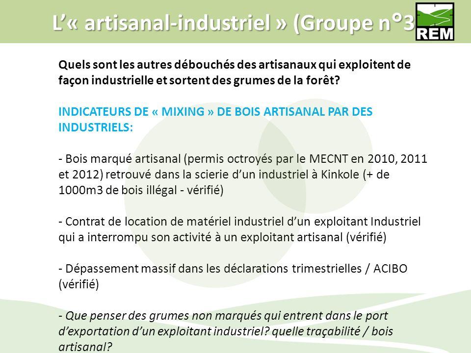 L'« artisanal-industriel » (Groupe n°3)