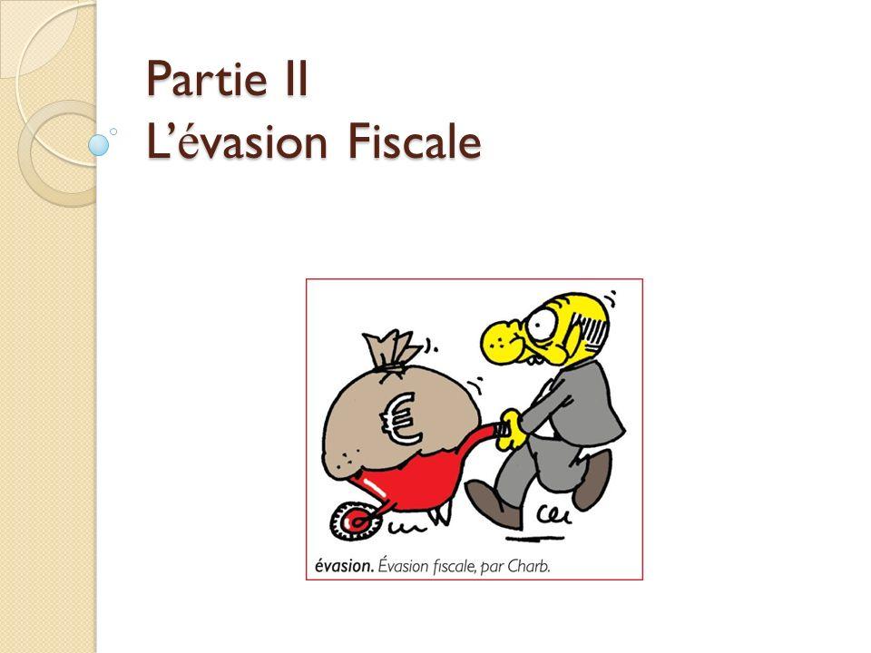 Partie II L'évasion Fiscale