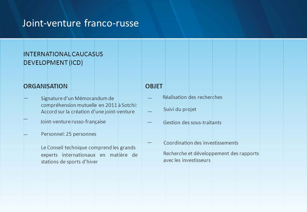 Joint-venture franco-russe
