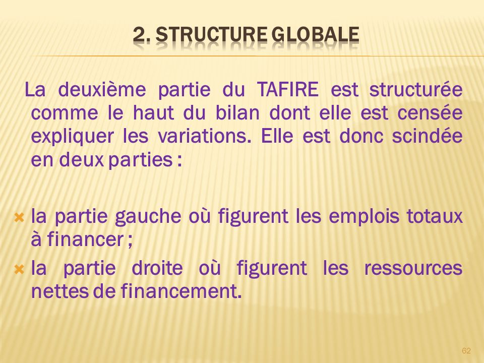 2. STRUCTURE GLOBALE