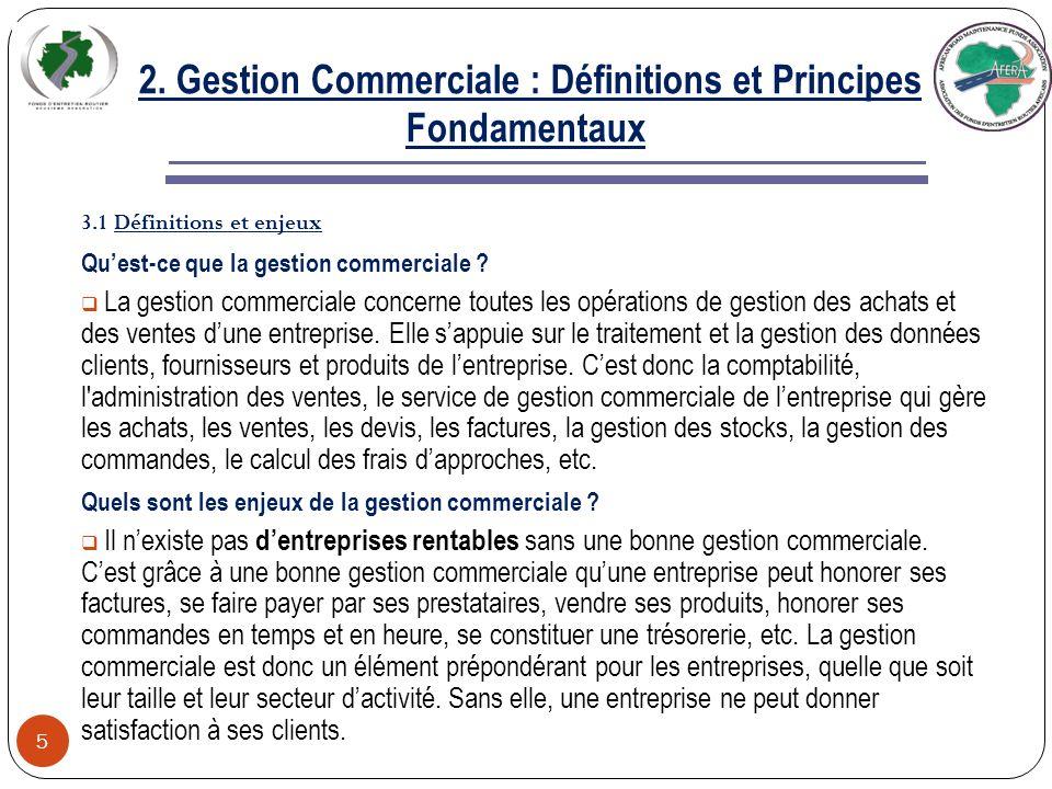 2. Gestion Commerciale : Définitions et Principes Fondamentaux