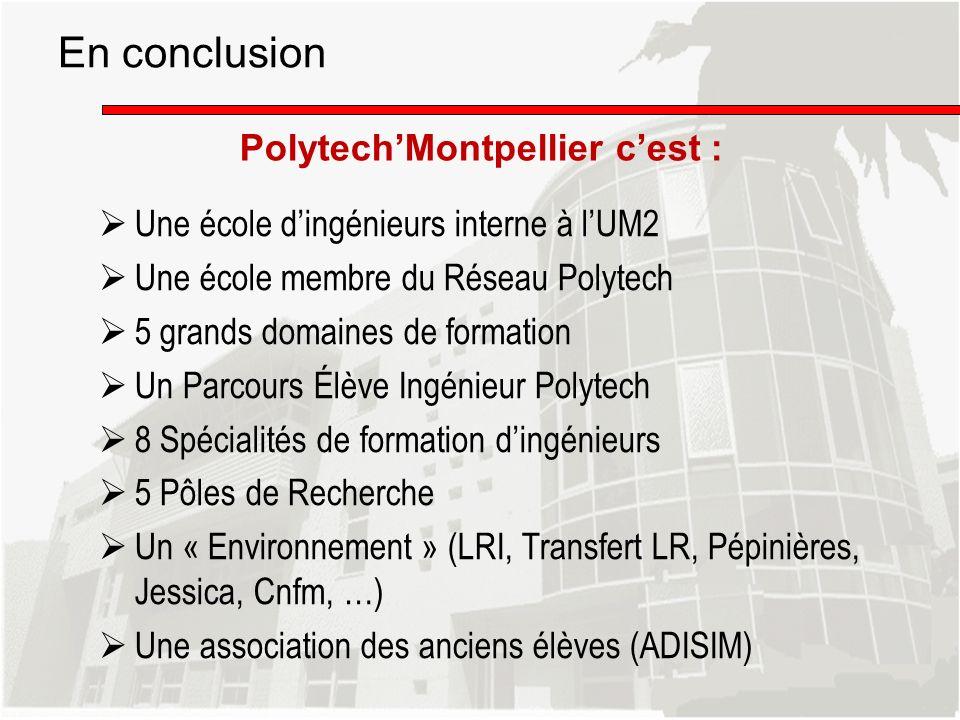 En conclusion Polytech'Montpellier c'est :
