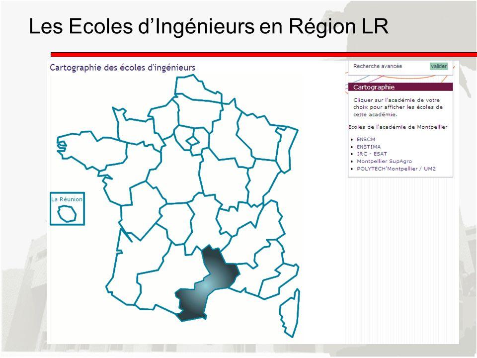 Les Ecoles d'Ingénieurs en Région LR