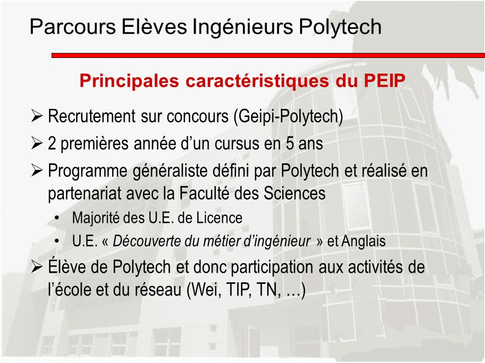 Parcours Elèves Ingénieurs Polytech