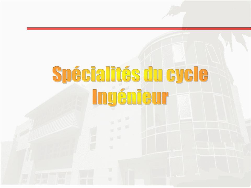 Spécialités du cycle Ingénieur
