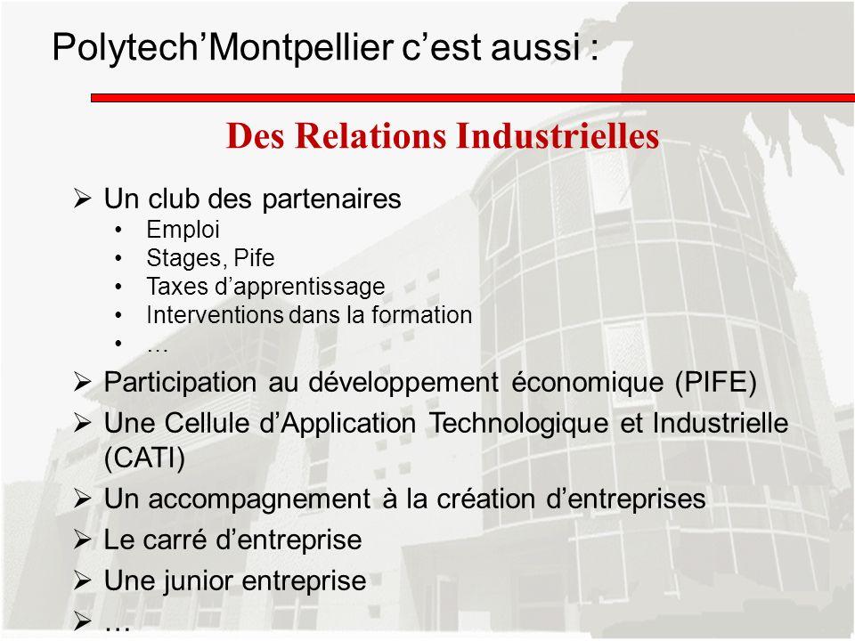 Polytech'Montpellier c'est aussi :